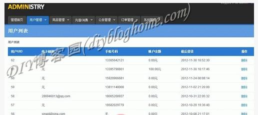 php程序:云购物系统