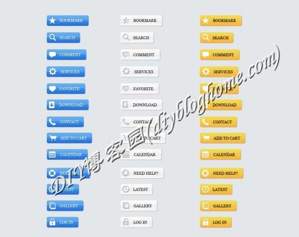 网页前端设计常用psd布局控件