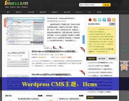 Hcms主题修改升级版-WordPress CMS主题模版