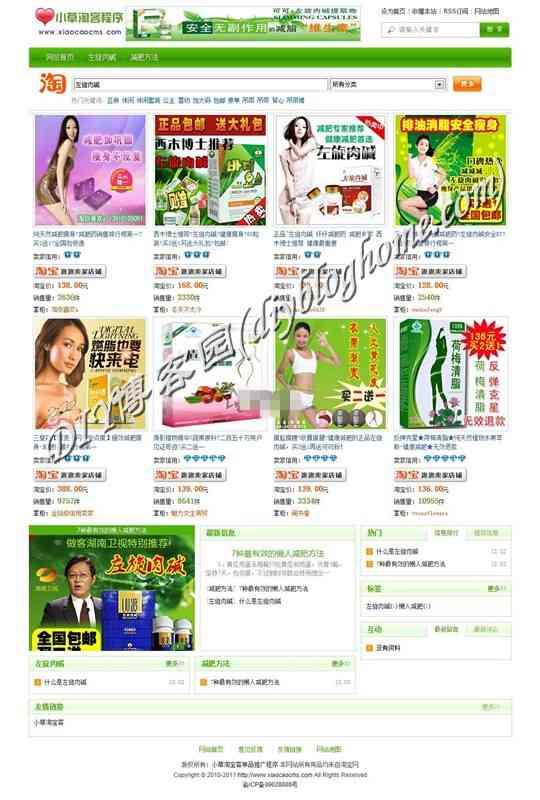 绿色清新版淘宝客单品推广程序商业版