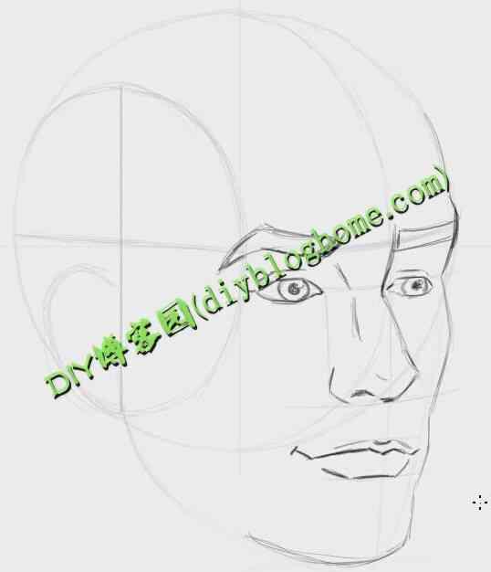 Photoshop 绘制人体头部视频教程