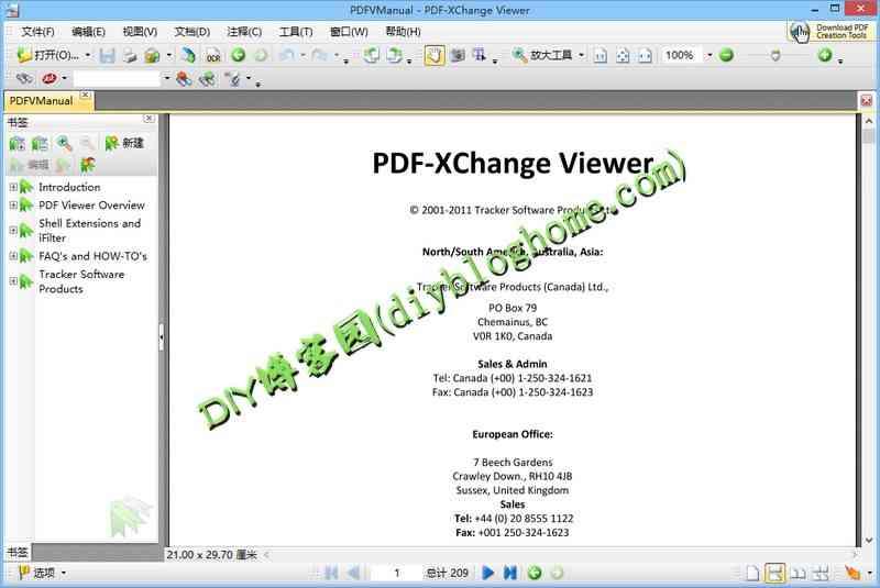 PDF编辑器PDF-XChange Viewer2.5.315便携版
