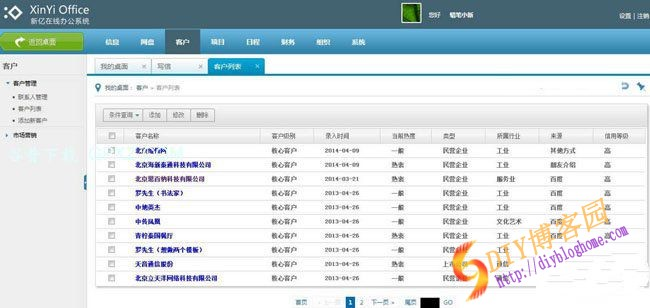 ASP.NET源码XinYiOffice内容管理系统(新亿云办公) v1.0 源码版
