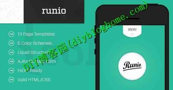 Html5手机网站模板runio静态css3源码 适合企业个人应用
