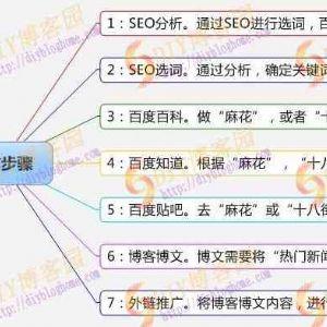SEO营销思维导图集附送大型网站SEO策划方案