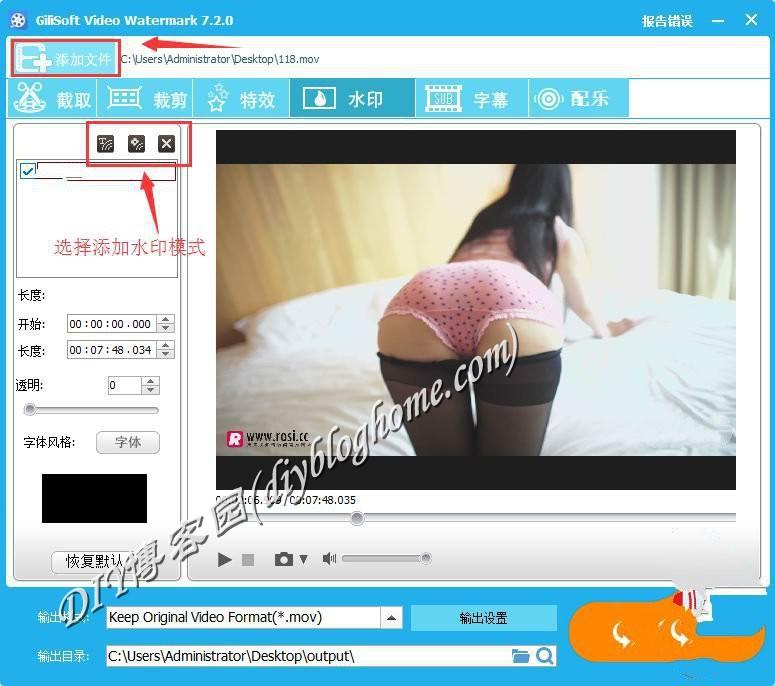视频加水印软件GiliSoft Video Editor7.2附软件激活码