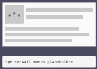 网站页内容placeholder占位特效