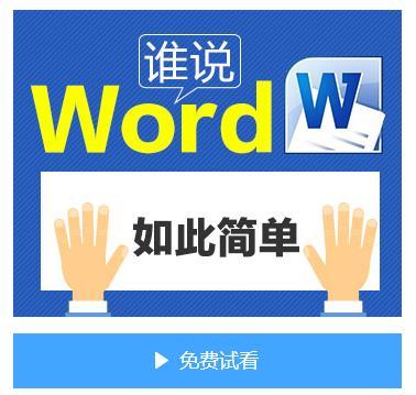 [VIP]11集在线视频课程 谁说WORD如此简单