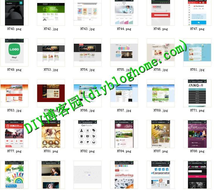 上千款手机网站HTML5模板+套图标示