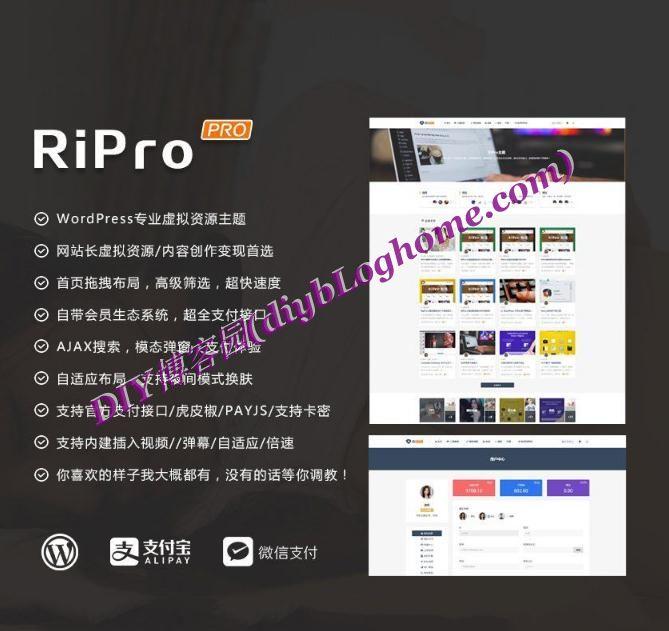 Wordpress主题ripro4.0资源分享主题站解密去授权版