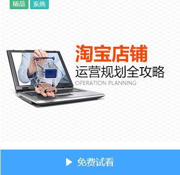 vip课程_淘宝店铺运营规划全攻略(7集)