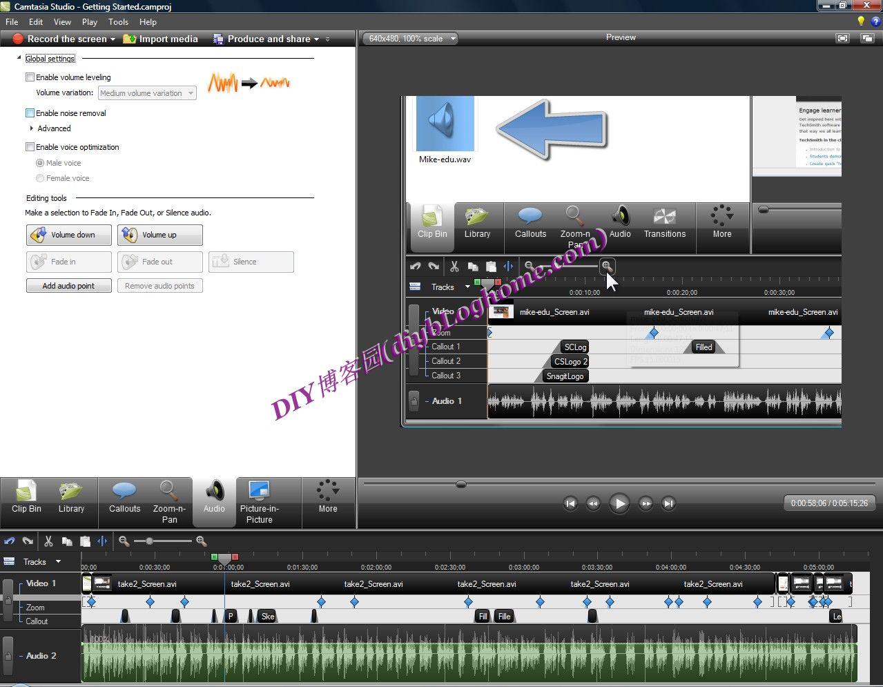 屏幕录像软件Camtasia Studio 6汉化版+视频教程