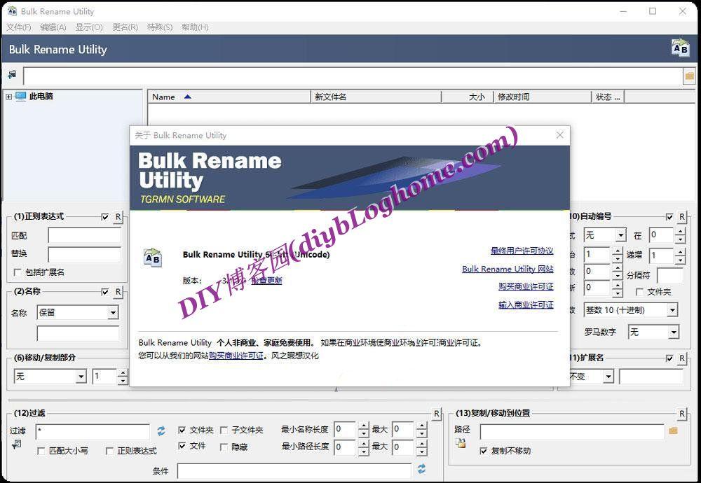 文件批量更名工具(Bulk Rename Utility)v3.1汉化 绿色版